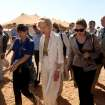 Quentin Bryce, the Australian Governor-General, tours the Zaatari Syrian Refugee Camp, in Mafraq, Jordan, Sunday, Sept. 2, 2012. Bryce told the press that Australia has contributed 20 million in funds to support the refugees. (AP photo/Mohammad Hannon)