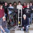 MNTC Pre-Engineering students representing Norman North, Norman, Moore and Westmoore High Schools stand next to the robot they've designed and will compete with in the FIRST Robotics Regional Competition in Texas.  Community Photo By:  Jason Graham, MNTC  Submitted By:  Anna,