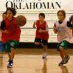 Luke Chansolme (8) breaks away with the ball during the Kevin Durant Basketball Camp. Kevin Durant held a basketball camp Wednesday, June 30, 2010, at Heritage Hall in Oklahoma City. Photo by Mitchell Alcala, The Oklahoman.