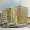 An artist's look at the new Ambassador Hotel in Midtown. Rendering by Craig Riddenour      -