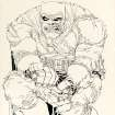This image provided by Heritage Auctions on July 2, 2013 shows the original art drawn by writer/artist Frank Miller for the cover to