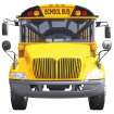CLIP ART / SCHOOL BUS / BUS FRONT CUTOUT