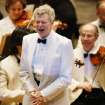 FILE - This July 12, 2003 file photo shows pianist Van Cliburn after performing with the  Boston Symphony Orchestra as the Orchestra plays