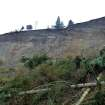 This March 27, 2013 photo provided by the Washington Dept. of Natural Resources, shows a massive landslide that damaged one home and isolated or threatened more than 30 others near is seen from below near Coupeville, Wash.  Geologists and engineers are assessing what might happen next after a large landside thundered down the scenic island hillside overlooking Puget Sound.  (AP Photo/Washington Dept. of Natural Resources, Stephen Slaughter)