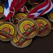 lots of Gold medals won at the Oklahoma track and field event for the over 60 athlete