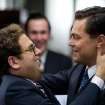 "This film image released by Paramount Pictures shows  Jonah Hill, left, and Leonardo DiCaprio in a scene from ""The Wolf of Wall Street."" Hill was nominated for an Academy Award for best supporting actor on Thursday, Jan. 16, 2014, for his role in the film. DiCaprio was also nominated for best actor. The 86th Academy Awards will be held on March 2. (AP Photo/Paramount Pictures and Red Granite Pictures, Mary Cybulski)"