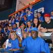 OKLAHOMA CITY THUNDER / MIAMI HEAT / NBA FINALS /  NBA BASKETBALL / SUPPORT: Miami Heat fans surrounded by Thunder fans in Loud City for game one of the NBA Finals in the Chesapeake Energy Arena Tuesday, June 12, 2012. Photo by Zeke Campfield, The Oklahoman
