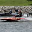 Jeff LeBain, foreground and Steven Smith race during the Oklahoma City Nationals Drag Boat races on the Oklahoma River Saturday, June 9th, 2012. PHOTO BY HUGH SCOTT, FOR THE OKLAHOMAN    ORG XMIT: KOD