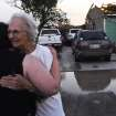 Ida Clark, 85 of Carney, hugs her friend Lesa Bane after a tornado went through Carney, Okla. on May 19, 2013. Clark's home of 50 years was destroyed by the tornado with Clark and her son inside the house.  KT King/For the Oklahoman
