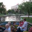 The same view of the Bricktown Canal today shows the once undeveloped Lower Bricktown built into a mix of restaurants, shops, a hotel and entertainment venues.PHOTO PROVIDED BY WATER TAXI ORG XMIT: 0906270157271163