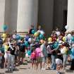 Family members and survivors stand atop the State Capitols steps in preparation to release Hope balloons.  Community Photo By:  Mike Howard  Submitted By:  Mike, OKC