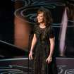 Sally Field speaks during the Oscars at the Dolby Theatre on Sunday, March 2, 2014, in Los Angeles.  (Photo by John Shearer/Invision/AP)