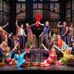 This theater image released by The O+M Company shows the cast during a performance of the musical