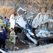 A photo taken from the scene of the wreck at I-35 and Covell Friday, Jan. 26, 2007.  Community Photo By:  Aaron Knight