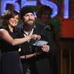 Martina McBride, left, and Zac Brown present the award for best country album at the 56th annual Grammy Awards at Staples Center on Sunday, Jan. 26, 2014, in Los Angeles. (Photo by Matt Sayles/Invision/AP)