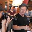 William H. Macy on the set of