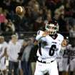 Jenks quarterback Hunter Collins throws for a completion during the Edmond Santa Fe - Jenks game at UCO's Wantland Stadium in Edmond, Friday, November 18, 2011. PHOTO BY HUGH SCOTT, FOR THE OKLAHOMAN