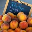Peaches for sale at the Edmond Farmer's Market, Wednesday, Sep. 29, 2010.   Photo by Jim Beckel, The Oklahoman