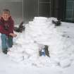 """At Omniplex Science Museum, the recent frigid temperatures enhanced learning for Sean LaChance, Norman, Okla., who explored """"snow engineering"""" by building an igloo.  Community Photo By:  Carol Shanahan  Submitted By:  Carol, Edmond"""