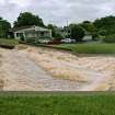 Water spills over the dam in the Ski Island neighborhood of Hefner between Macarthur and Rockwell in Oklahoma City on Monday, June 14, 2010. Photo by John Clanton, The Oklahoman