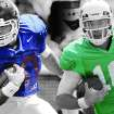 OU's Blake Bell and Clint Chelf sport the