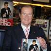 FILE - This Nov. 9, 2012 file image released by Starpix shows British actor Roger Moore at a signing for his book,