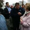 Gov. Christie spoke to Blide Vlacancich and other residents of Moonachie who were still without power on Thursday afternoon Nov. 1, 2012. The governor assured residents that FEMA would get back to them within 24-48 hours. However, power could take longer to restore. (AP Photo/The Record, Kevin R. Wexler, POOL)