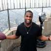 Former Oklahoma University running back and top 2011 NFL Draft prospect DeMarco Murray visits the Empire State Building ahead of Thursday's Draft.