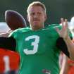 OSU quarterback Brandon Weeden has a great arm, but needs more to master the Cowboys' new offense. Photo by John Clanton, The Oklahoman