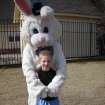 Ryan Reece and the Easter Bunny at the Oaktree Park Homeowner's Egg Hunt on 3/22/08  Community Photo By:  pia allen  Submitted By:  michael, edmond