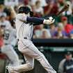 Seattle Mariners' Nick Franklin hits a grand slam in the second inning against the Houston Astros during a baseball game on Sunday, July 21, 2013, in Houston. (AP Photo/Bob Levey)