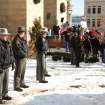 Jefferson Co. sheriff's deputies stand nearby during the  protest at the Jefferson County Courthouse in Steubenville, Ohio, Saturday, Jan. 5, 2013. Authorities investigating rape accusations against two high school football players in eastern Ohio launched a website Saturday as interest in the case balloons, an extraordinary step designed to combat the misperception