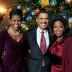 "In this Dec. 3, 2009, photo released by the White House, President Barack Obama and first lady Michelle Obama, left, pose with Oprah Winfrey, right, in the Blue Room of the White House in Washington during a taping of a special, ""Christmas at the White House,"" airing Sunday, Dec. 13, at 10:00 p.m. EST on ABC.  (AP Photo/The White House, Pete Souza)  ORG XMIT: CX319"
