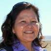 This March 13, 2012 photo shows Delores Apache, president of To'Hajiilee Economic Development Inc. She has been spearheading an effort to build a 30-megawatt solar photovoltaic array near the Navajo community of To'Hajiilee, N.M. (AP Photo/Susan Montoya Bryan)