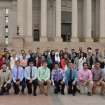 Participants and advisers involved in the sixth annual Muslim Youth Leadership Symposium hosted by the Council on American-Islamic Relations' Oklahoma chapter pose for a picture on June 23 at the state Capitol. Photo provided