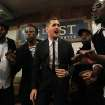 In this photo provided by Transit Wireless, Canadian Crooner Michael Buble, center, and the acappella group Naturally 7 perform a song from Buble's just released album
