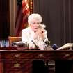 This theater image released by The Hartman Group shows Holland Taylor as former Texas Gov. Ann Richards during a performance of