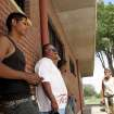 From left, Darrell John, Chris Sanchez, Mario Silvas and Terry Ladd at a construction site in Oklahoma CIty, Thursday, June 5, 2007. BY DEVONA WALKER, THE OKLAHOMA