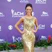 Singer Jana Kramer arrives at the 48th Annual Academy of Country Music Awards at the MGM Grand Garden Arena in Las Vegas on Sunday, April 7, 2013. (Photo by Al Powers/Invision/AP) ORG XMIT: NVPM240
