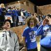 Sophomore Dylan Harman, junior Joey Pozo, and senior Walker Cross, celebrate on the sidelines during a high school football game between Guthrie and East Central at The Rock in Guthrie, Friday, Nov. 18, 2011.  Photo by Garett Fisbeck, The Oklahoman