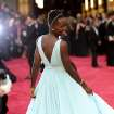 Lupita Nyong'o arrives at the Oscars on Sunday, March 2, 2014, at the Dolby Theatre in Los Angeles.  (Photo by Chris Pizzello/Invision/AP)