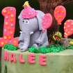 A birthday cake by Ingrid's Kitchen for Malee's first birthday celebration at the Oklahoma City Zoo, Sunday, April 15, 2012.  Photo by Garett Fisbeck, For The Oklahoman