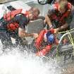 Rescuers battle high winds to recover a drowning victim at Lake Hefner in Oklahoma City, Okla. June 5 , 2008.  BY STEVE GOOCH, THE  OKLAHOMAN.
