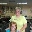 Bethany teacher Denise Kimbrough and student Kaylee Brooks pose in Kimbrough's classroom. They help raise money for cancer research at the Oklahoma Medical Research Foundation.  Community Photo By:  Michael Bratcher  Submitted By:  Michael, Oklahoma City