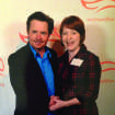 Michael J. Fox poses with Nicole Jarvis M.D. at an awards dinner hosted in New York by Fox, honoring the national Team Fox fundraising campaigns that raised the most money. Oklahoma's Team Fox raised $115,000 in 2012, which was 12th highest in the nation of all Team Fox events. Photo provided.
