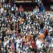 "Cavaliers fans hold up signs with the letter ""Z"" while cheering for the return of Zydrunas Ilgauskas during a March game.  AP Photo"