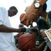 Kevin Durant, shown here signing autographs shortly after he was drafted by the then-Seattle SuperSonics, still goes out of his way to accommodate fans.