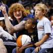 Robert Swift, left, talks with Darrell Fletcher, middle, and Kyle Ross during the open practice for the Oklahoma City Thunder NBA basketball team at the Ford Center in Oklahoma City, Monday, October 20, 2008. BY NATE BILLINGS, THE OKLAHOMAN