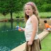 Ruthie Lacy, 6, of Edmond,  fishing in the pond at Hafer Park in Edmond Friday, June 13, 2008. BY TIM HENLEY, THE OKLAHOMAN