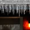 Icicles on front of house in 2200 block of Downing in The Village, Okla., Thursday,  Jan. 28, 2010. Photo by Jim Beckel, The Oklahoman